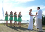 Oceana Wedding Celebrant Byron Bay beach view Amanda and Nick and bridesmaids